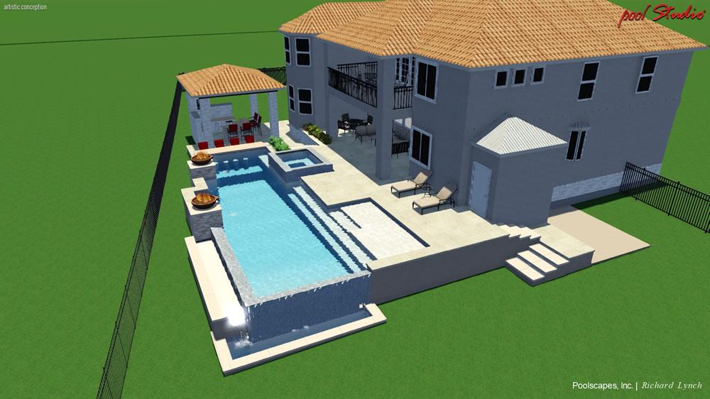 3D Design - Interactive 3 Dimensional Swimming Pool Design
