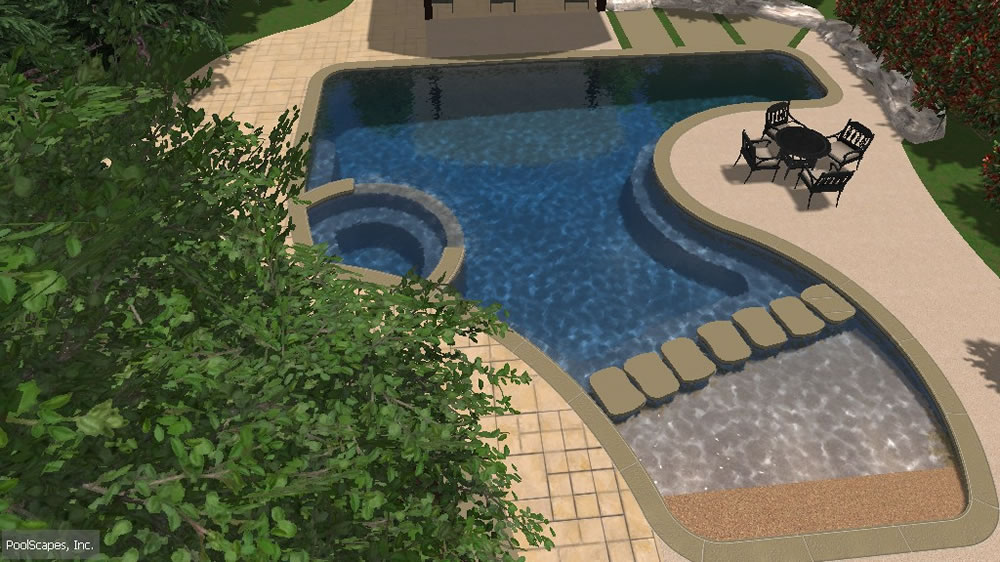 3D Design - Interactive 3 Dimensional Swimming Pool Design