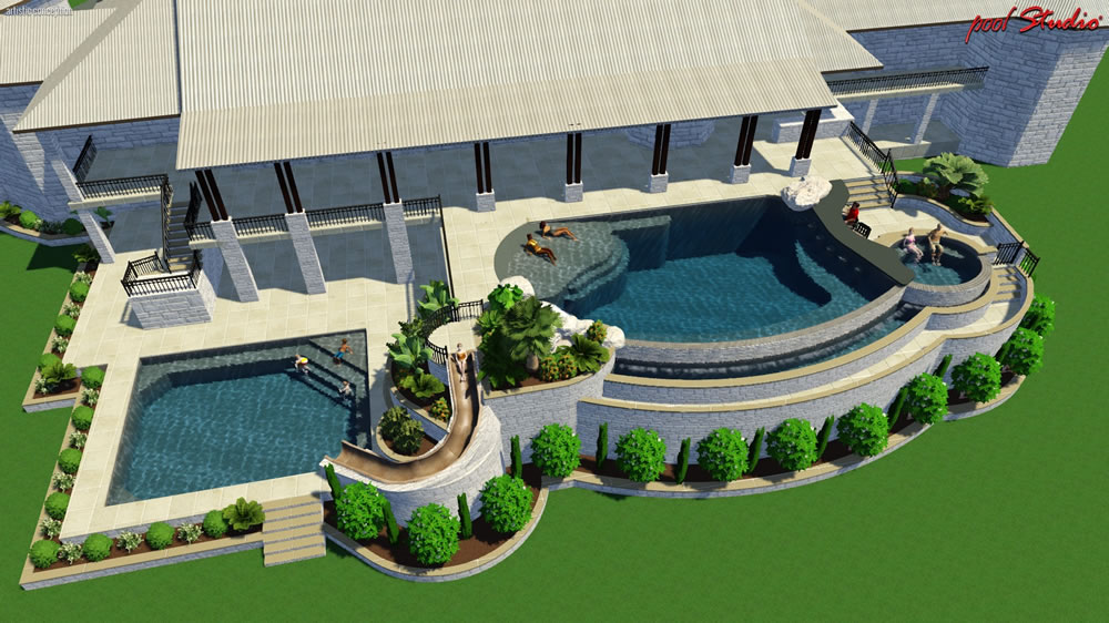 Project gallery completed swimming pools spas and for Pool design austin