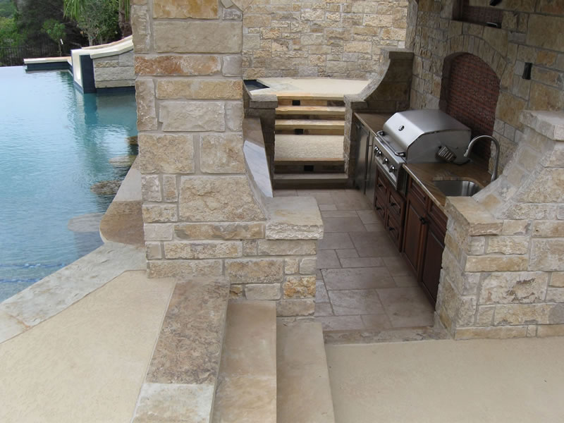 Outdoor Kitchen And Living Areas
