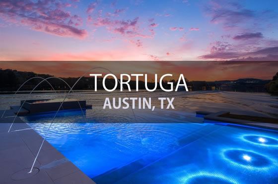 Featured Project - Lakefront Custom Pool - Tortuga